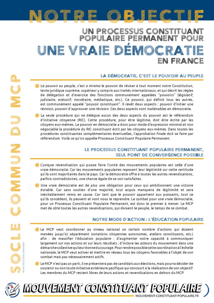 Pourquoi converger sur le RIC constituant avec le Mouvement Constituant Populaire (MCP)?